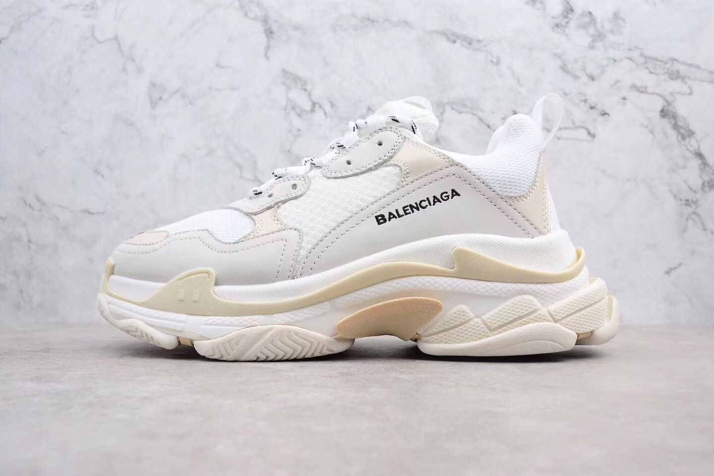 balenciaga triple s white sale