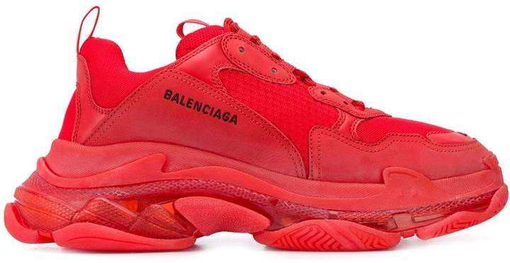 balenciaga shoes red