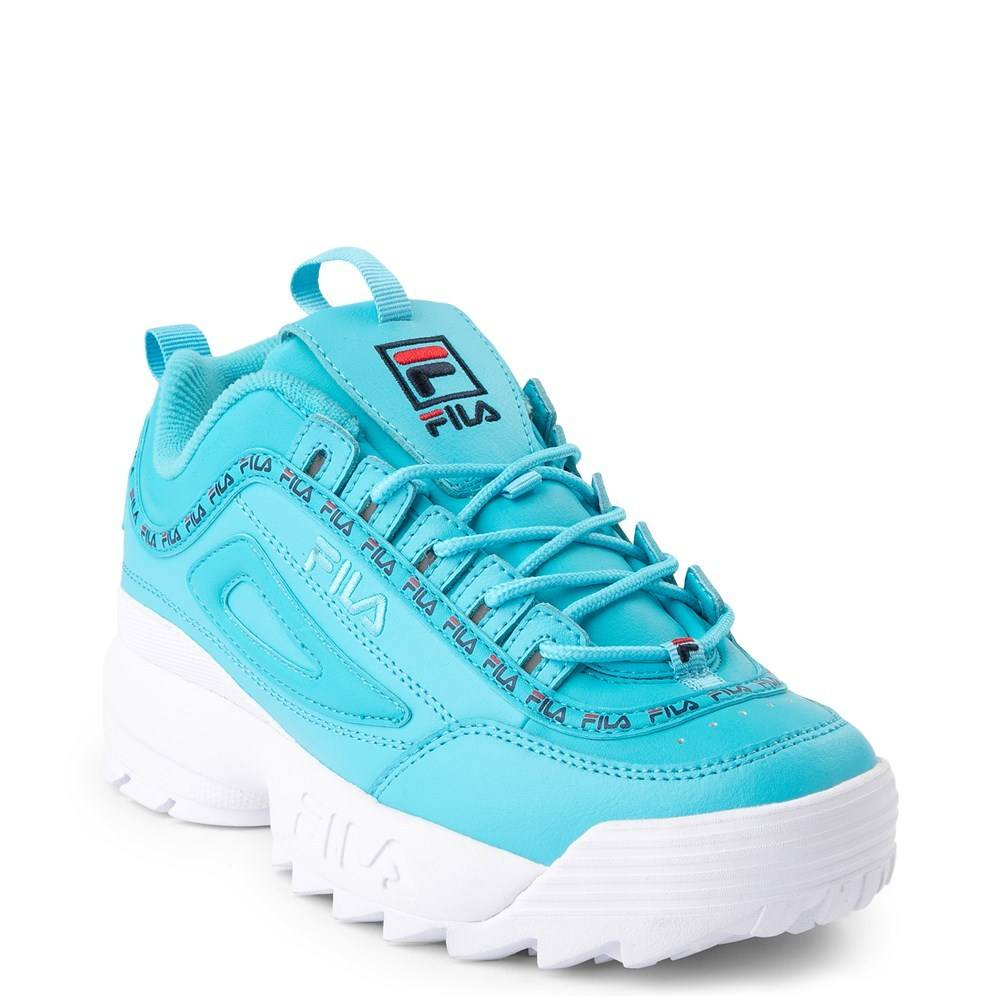 blue fila shoes