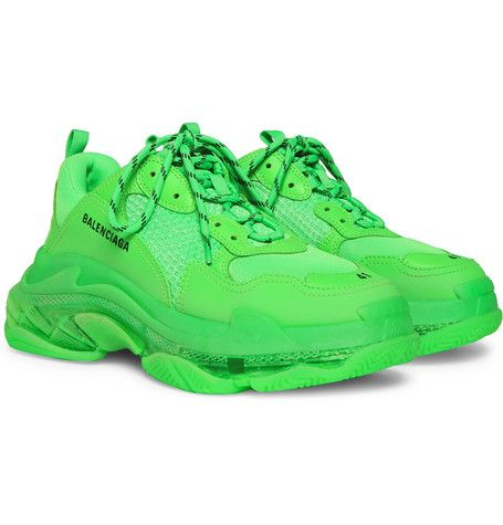 green balenciaga shoes